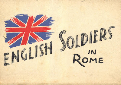 """English Soldiers in Rome"" post card series 1945 WW2"