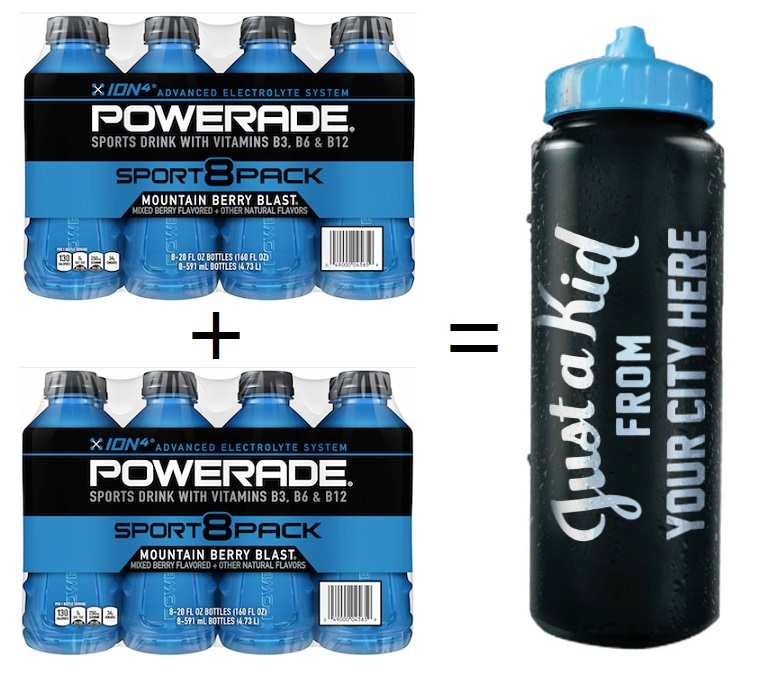 free powerade bottle