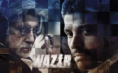 Amitabh Bachchan as a Pandit and Farhan Akhtar as a Daanish Ali in Bollywood Movie 2016 - Wazir