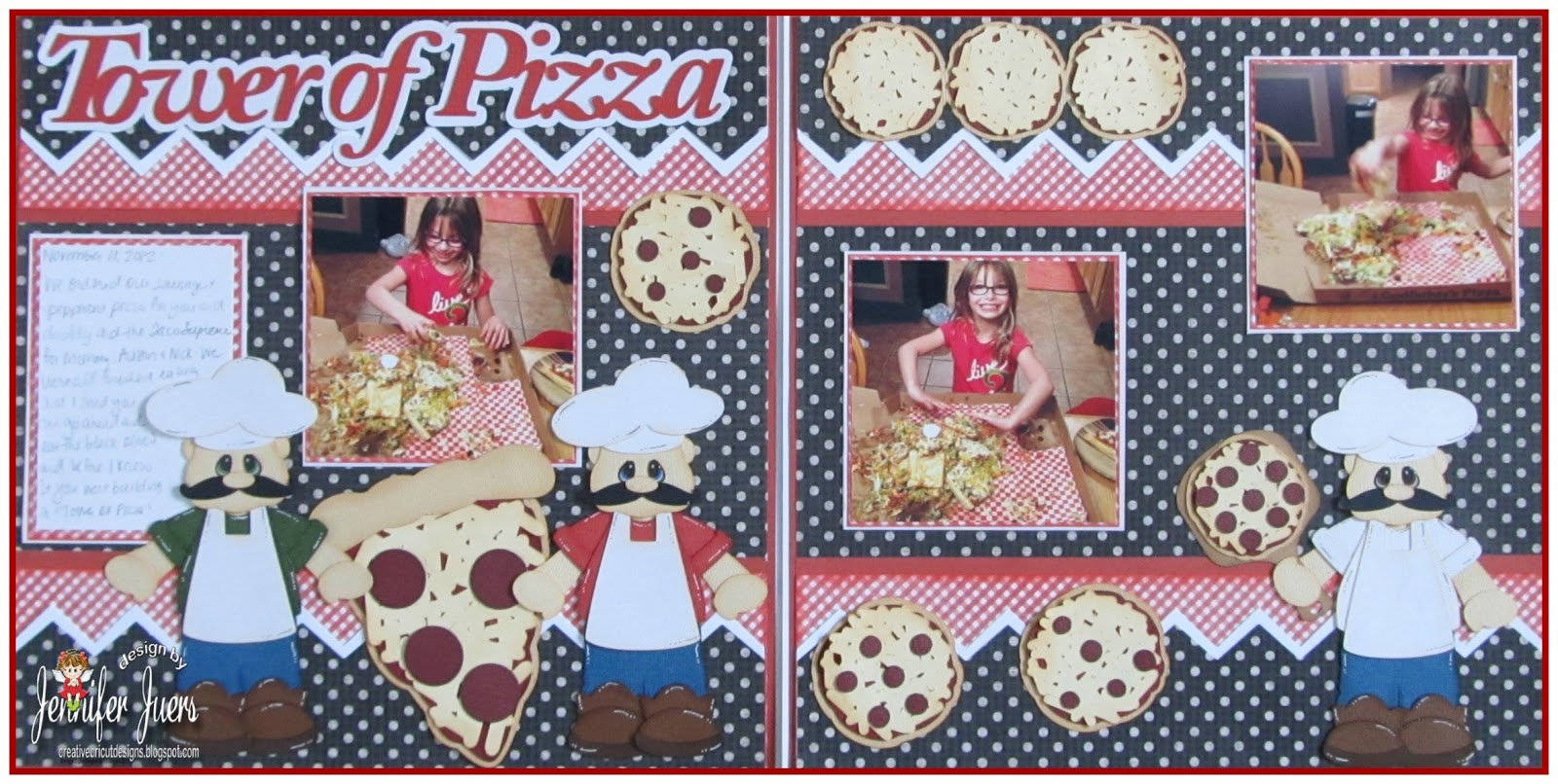 Pizza Scrapbooking