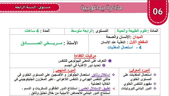 مذكرة استعمال المغذيات للسنة الرابعة متوسط الاستاذ صادق مريخي