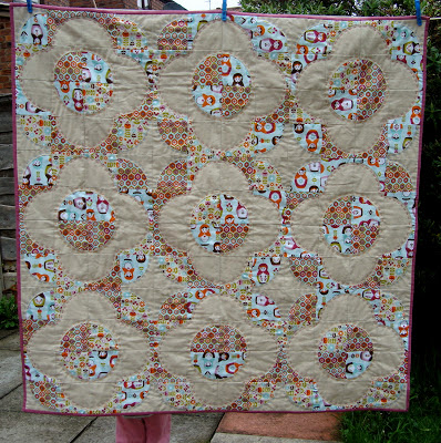 Matryoshka drunkards path quilt