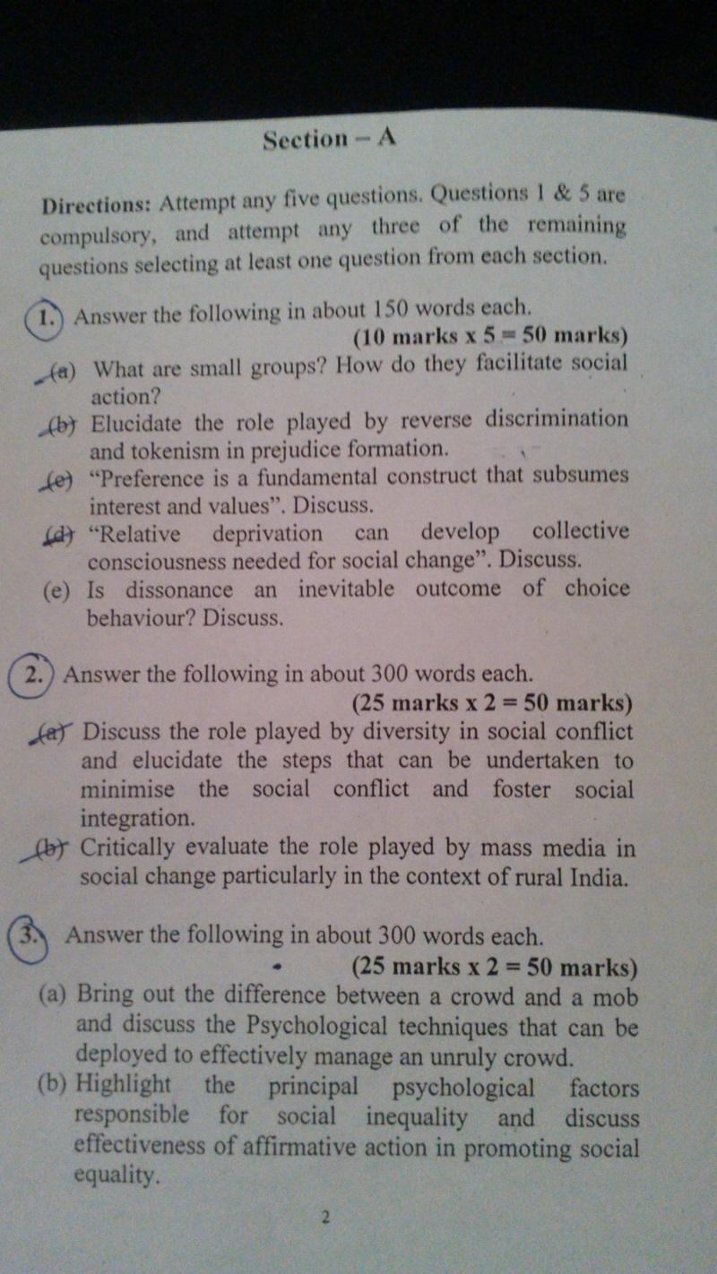 Vajiram test series for Psychology -TEST 1 - xaam in