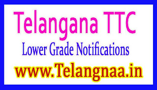 Telangana TTC (Lower Grade) Revaluation Notification 2017