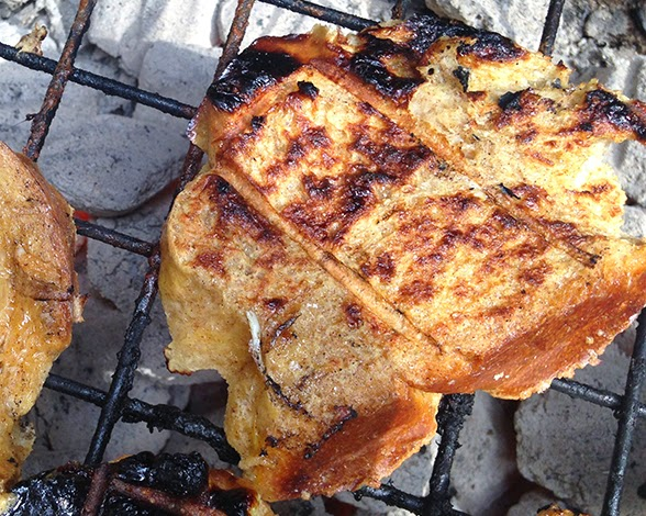 Brunch on a Budget: Grilled Bourbon French Toast