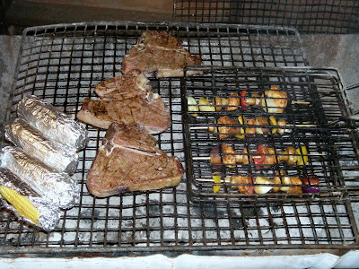 braai bbq tbone steak