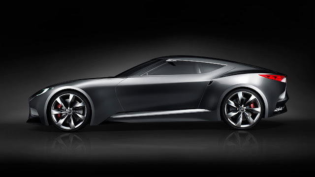 Hyundai luxury sports coupe concept HND-9 side