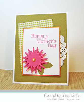 Happy Mother's Day card-designed by Lori Tecler/Inking Aloud-stamps and dies from Verve Stamps