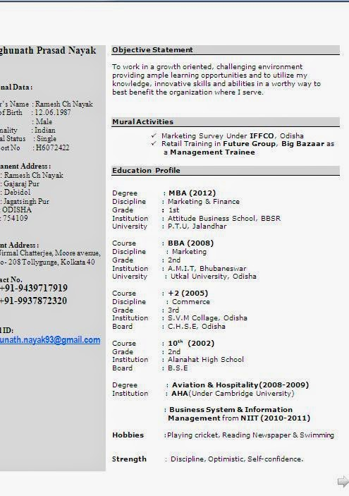 Mba Experience Resume Format. experienced resume samples in word ...