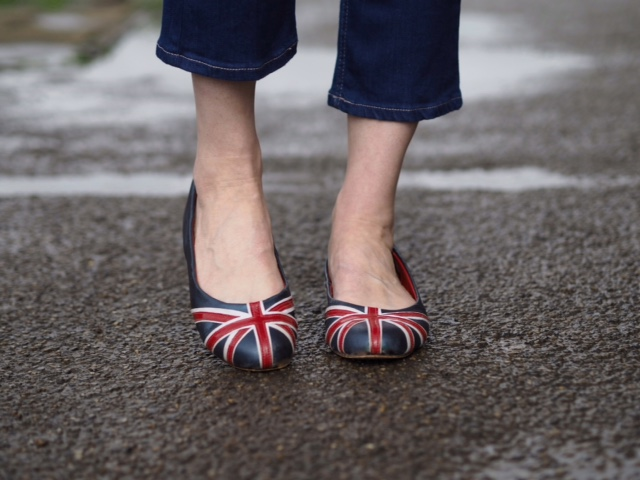 British union jack ballerina shoes