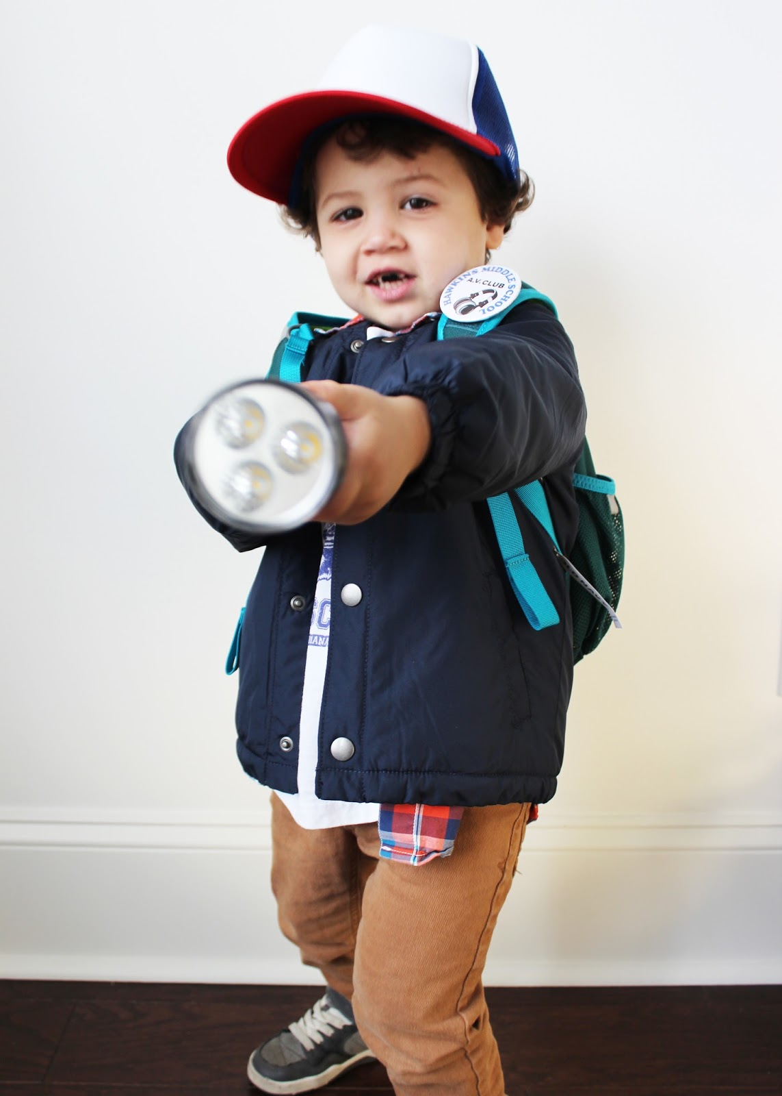 diy halloween costume for littles dustin stranger things