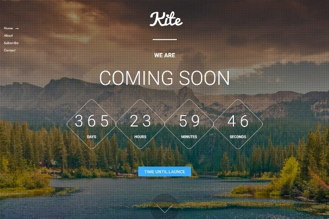 Kite – Free Responsive Coming Soon HTML5 Template