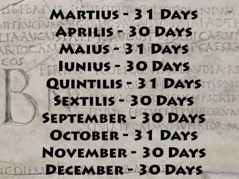 Il Calendario Romano.Di Mistero In Mistero Calendario Romano