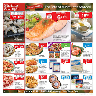 Price Chopper Seafood Sale December 16 - 22, 2018