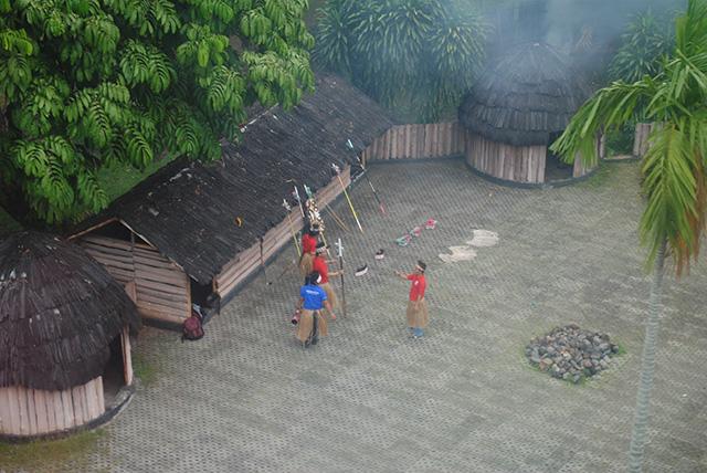 Rumah Adat Papua di Taman Mini Indonesia Indah