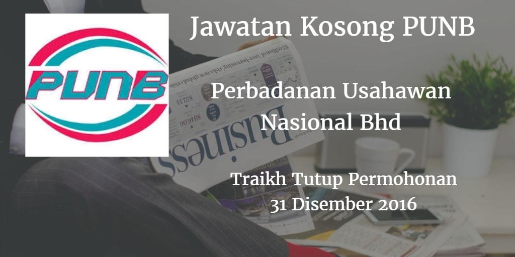 Jawatan Kosong PUNB 31 Disember 2016