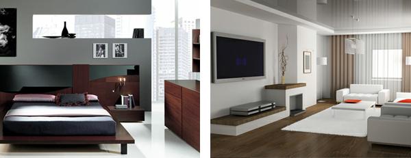 modern style interiors