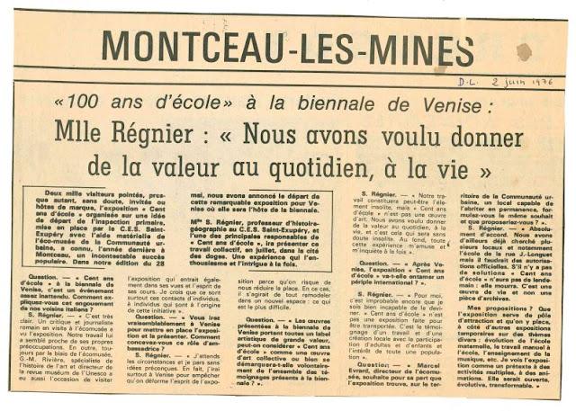 Le Courrier-Le Journal de Saône-et-Loire, article du 2 juin 1976