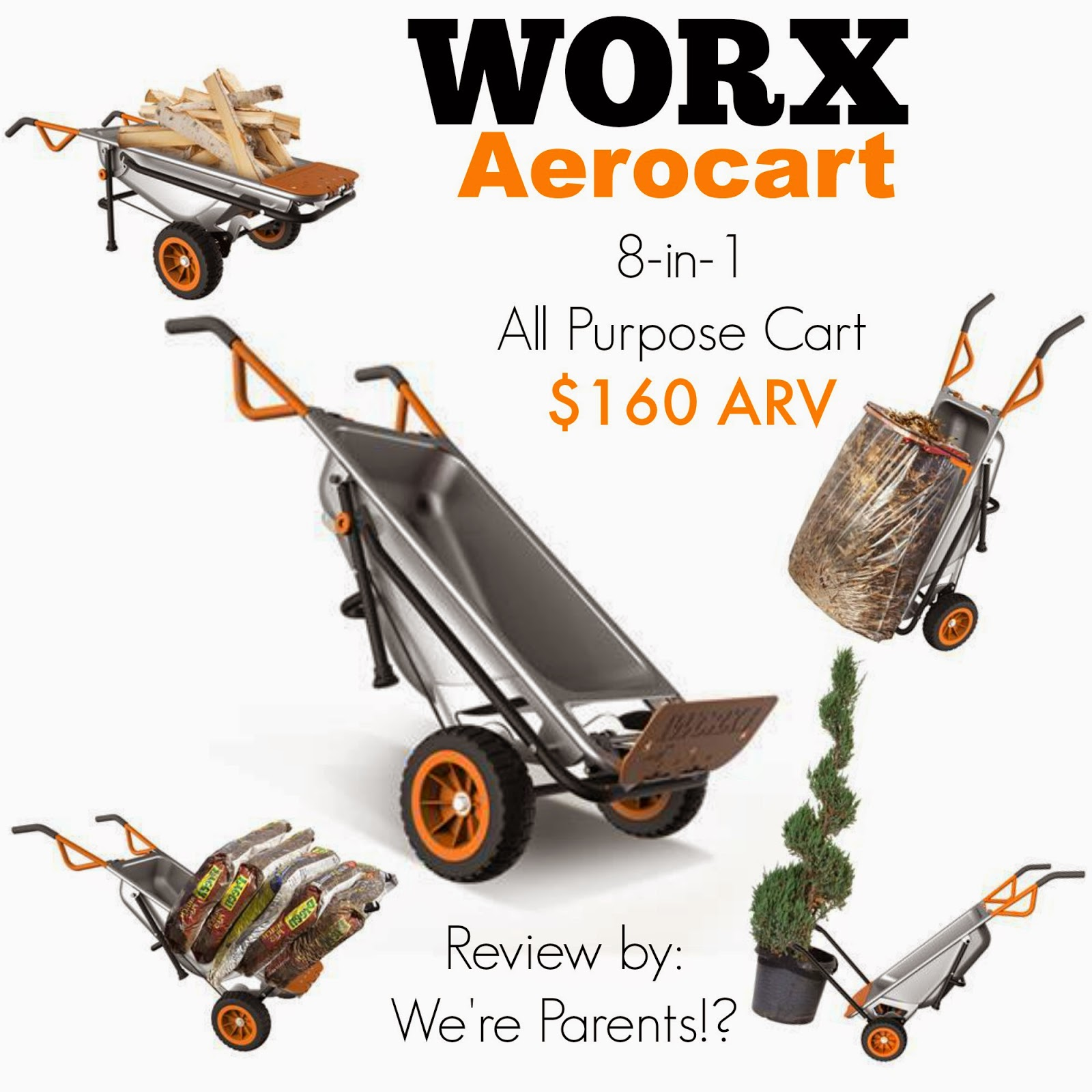 WORX Aerocart 8 in 1 Ultimate Cart Giveaway