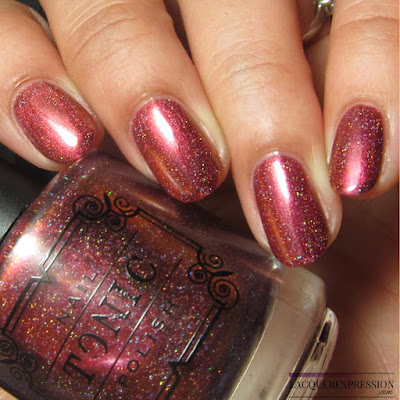 Nail polish swatch of Rose by indie polish maker Tonic Polish for the Multichrome Madness Group on Facebook