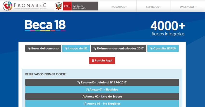 BECA 18: Convocatoria 2017 - Inscripción hasta el 2 Junio - PRONABEC - www.pronabec.gob.pe
