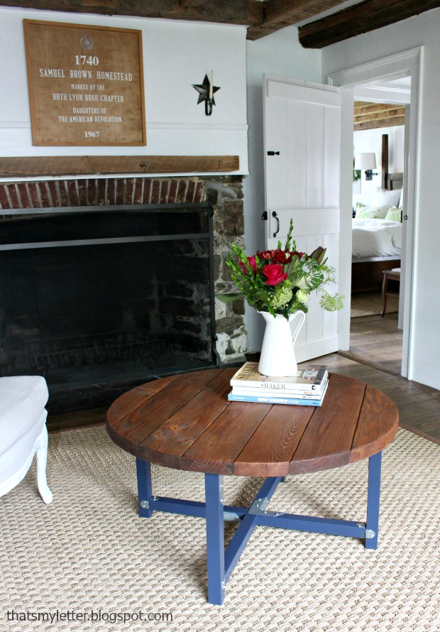That's My Letter: How to Build a Round Coffee Table