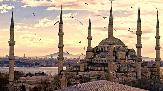 Sultan Ahmed Mosque eveing View