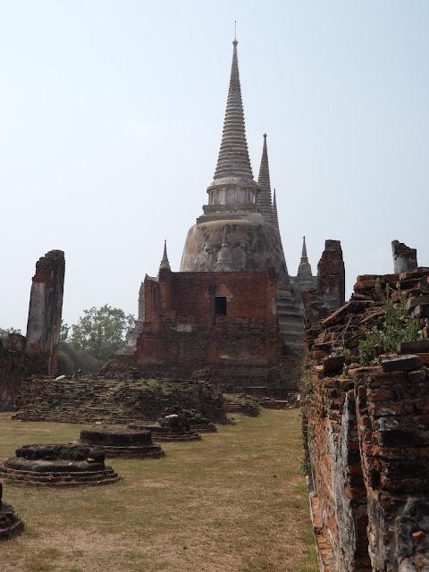 Wat Phra si samphet, temple Thaïlande, Ayutthaya, location vélo, guesthouse