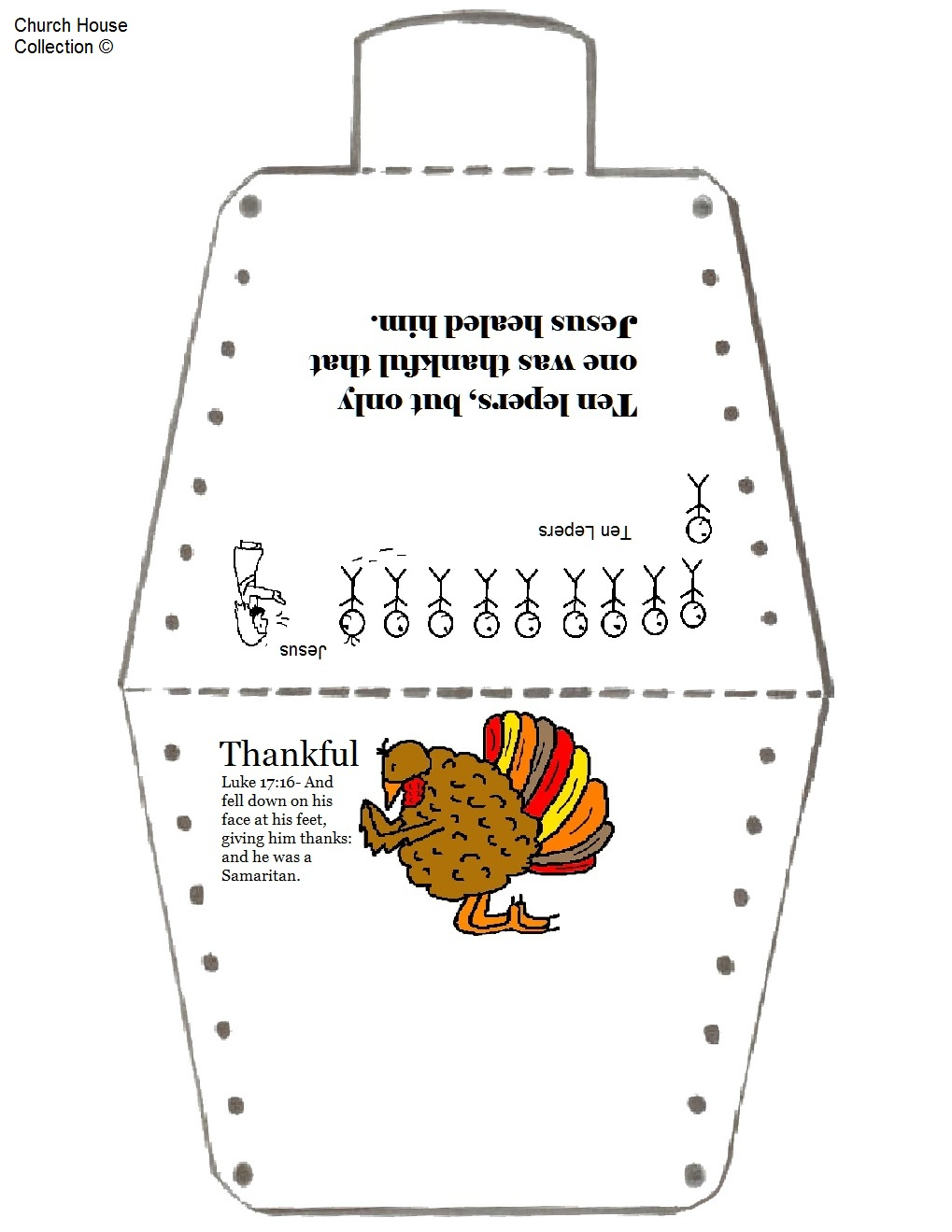 Turkey Costume Coloring Pages