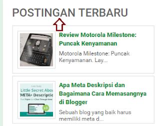 Cara Mudah Membuat Widget Postingan Terbaru Seperti Blog Mastimon.com