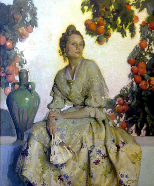 Retrato de Valenciana, Francisco Pons Arnau, Pintor español, Pintor Valenciano, Pintura Valenciana, Impresionismo Valenciano, Pintor Pons Arnau, Retratos de Pons Arnau