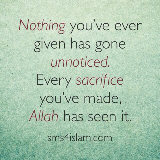 Allah has seen it - Quotes