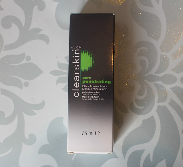 Photograph of packaging of the Avon Black Mineral Mask