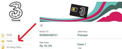 paket kuota 3, cara beli paket tri secara online
