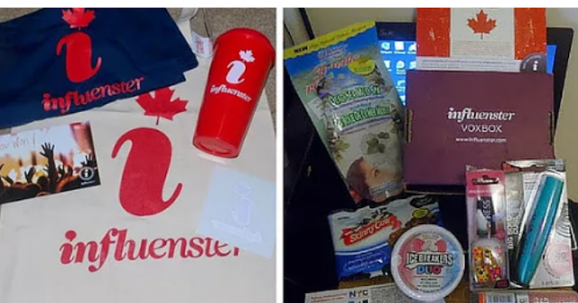 Free products in the mail from Influenster