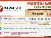 Bawaslu Provinsi Sumatera Barat Mengundang Putera Puteri Terbaik Bangsa 03 sd 09 Mei 2018