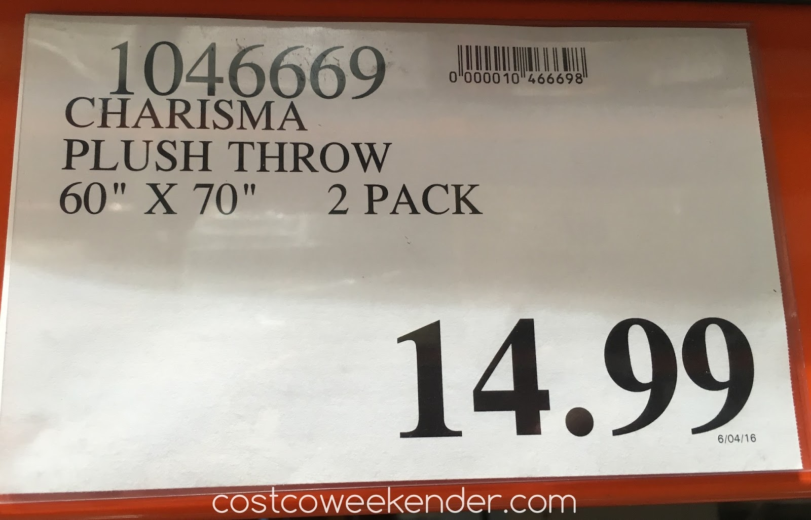 Costco 1046669 - Deal for the Charisma Velvet Plush Throw at Costco