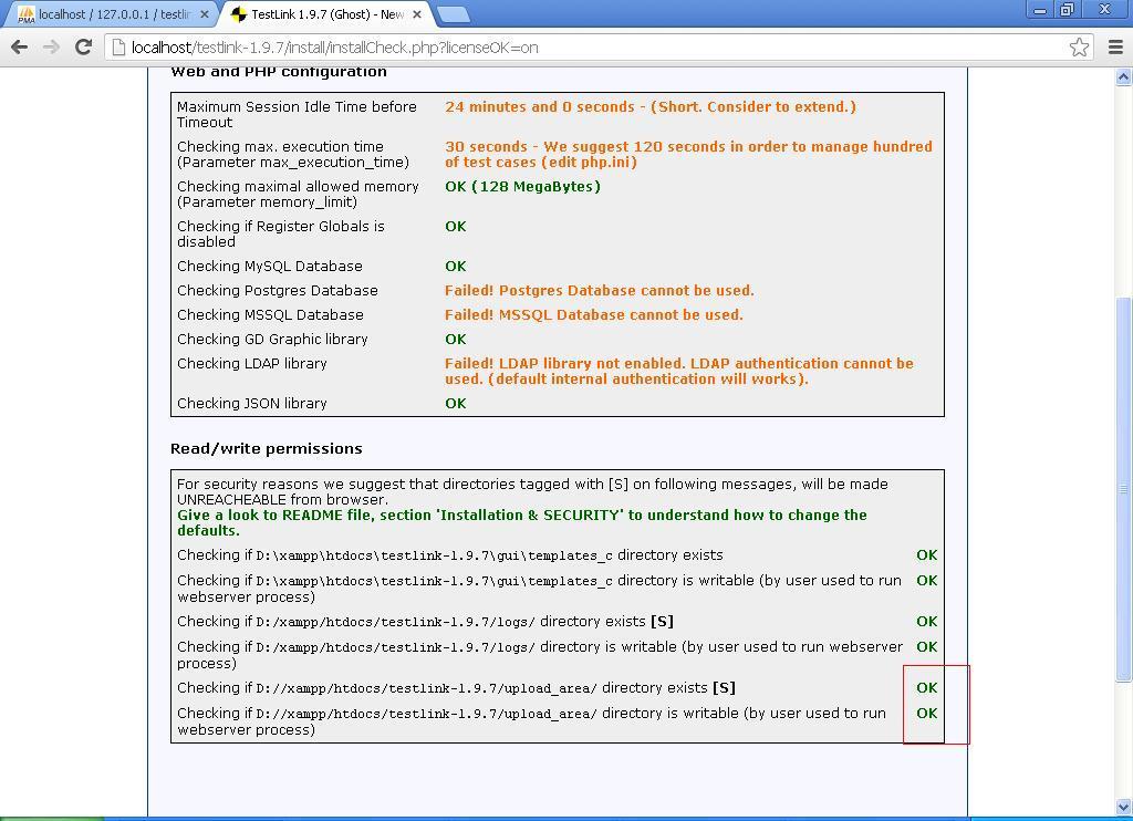 testlink windows