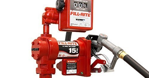 Up to 12 GPM Automatic Nozzle Fill-Rite FR610GA 115V AC Pump 3//4x12 Hose Steel Suction Pipe