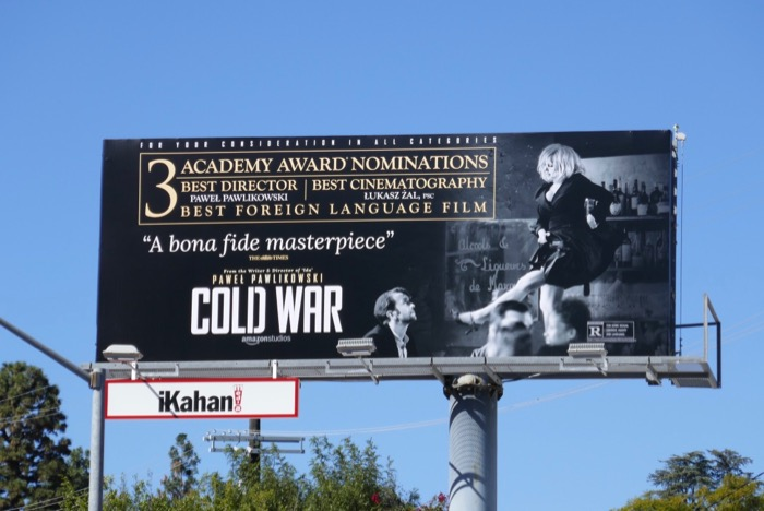 Cold War Oscar nominee billboard
