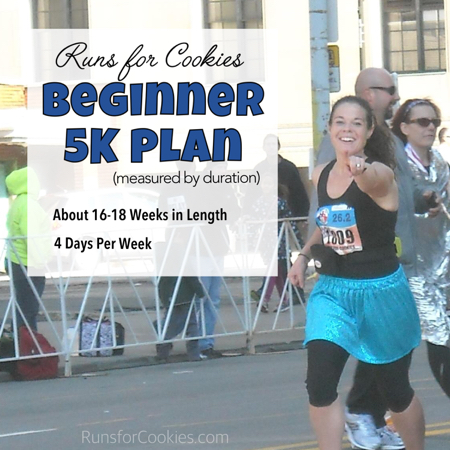 5K Training Plan 16-18 Weeks 4 Day per Week