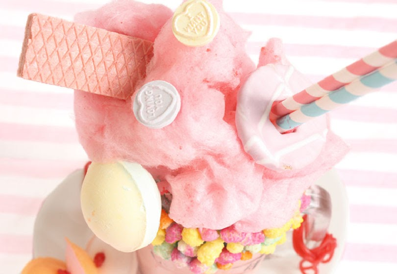 dairy-free candy floss freakshake