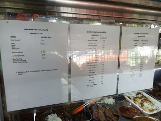 Menu and pricing