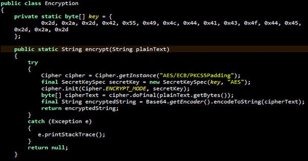 Aes encryption and decryption using java dreamscoder.