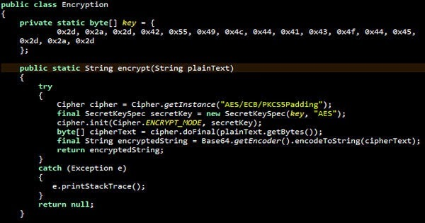 Advanced encryption standard (aes) implementaion using java.