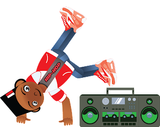 Hip-Hop B-Boy Cartoon Character Children's Book