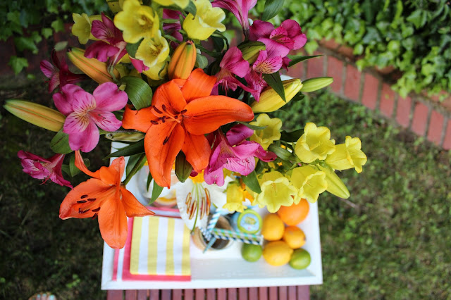 Lily Pulitzer-Inspired Citrus Flower Arrangement