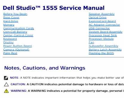 Support for studio 15 1555 | manuals & documents | dell us.