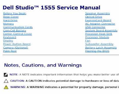 DELL STUDIO 1555 SERVICE MANUAL