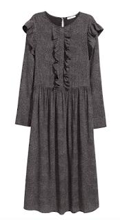 robe longue froufrou H&M